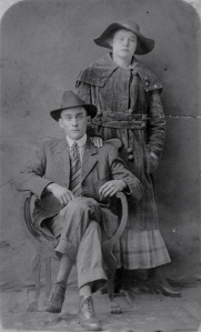 Madison Wilbur Reid and Etna Frances Pitts Wedding Photo 1916.  Image courtesy of Shelley Baltar.